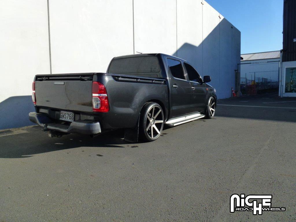 Toyota Hilux Verona M150 Black Machined With Dark Tint