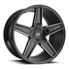 Cannes - M180 in Gloss Black & Milled 20x10.5