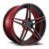 Roma in 20x9 Matte Black w/ Candy Red